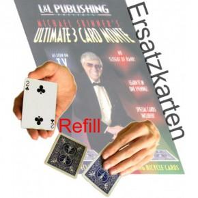 3 Card Monte Ersatzkarten Rot