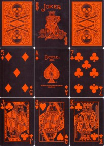 Bicycle Dark Skull Deck (Orange-Edition)