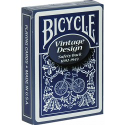 Bicycle Vintage Safety Back Blau
