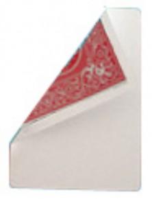 Bicycle Poker Jumbo-Trickkarte (Riesenkarte) Blanko / Rot