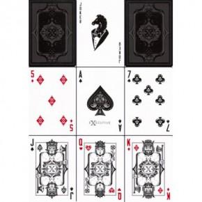 Executive Gentleman-Spielkarten (Schwarz)