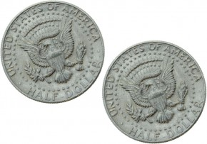 US-Halfdollar Doppelmünze