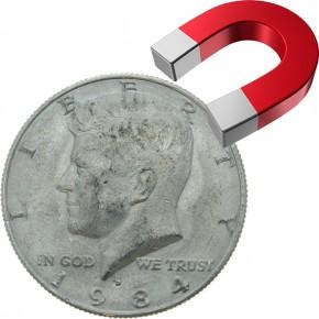 US-Halfdollar Magnetmünze (Extrastark)
