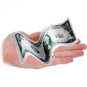 Selbstfaltender Geldschein