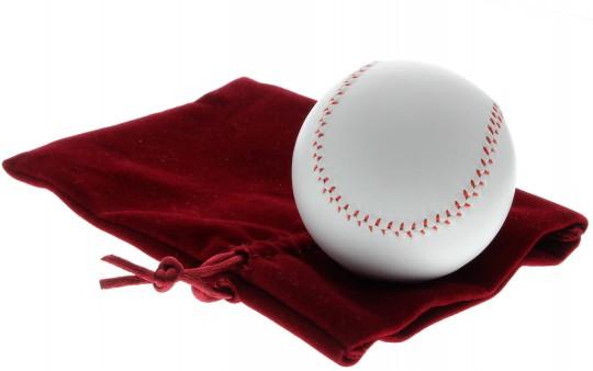 Baseball für Abschlussladung Weiss - 5,5 cm Durchmesser