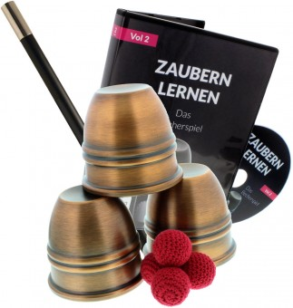 Becherspiel-Set - Profi - mit Legend-Becher (Antik-Look)