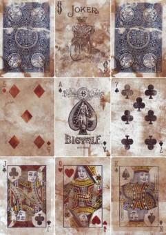 Bicycle Expert Back Heritage Spielkarten - Blau
