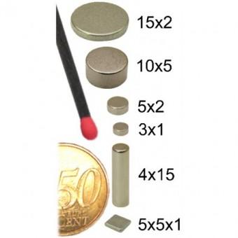 Magnet aus Neodym-Eisen-Bor Ø 10mm x 5mm