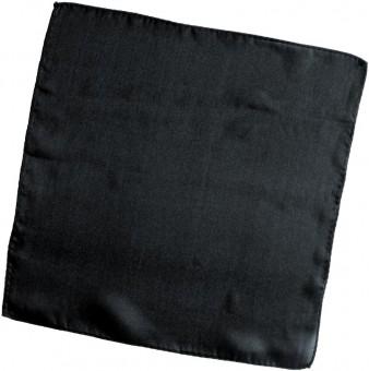 Seidentuch Schwarz   18 Inch / 45 cm