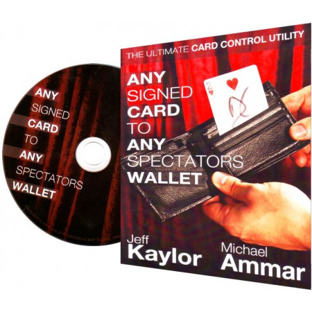 Any Signed Card To Any Spectators Wallet schwarz