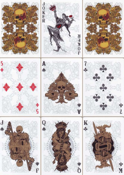 Arcanum White Spielkarten