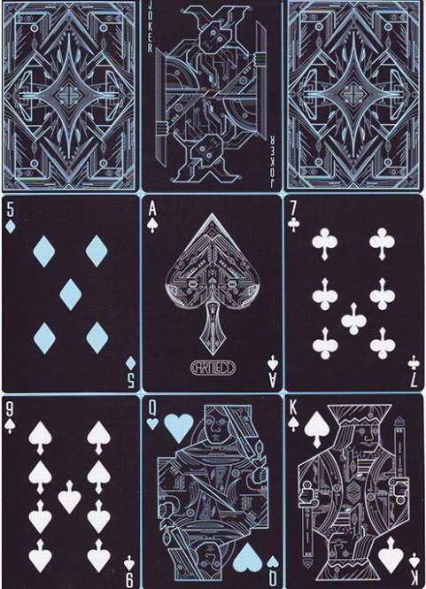 Artilect Black Spielkarten