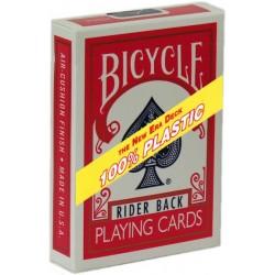 Bicycle 100% Plastic Kunststoff-Spielkarten Rot