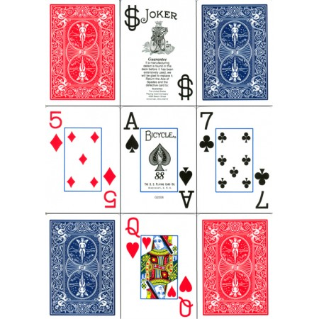 Bicycle Poker 88 Jumbo Index Blau