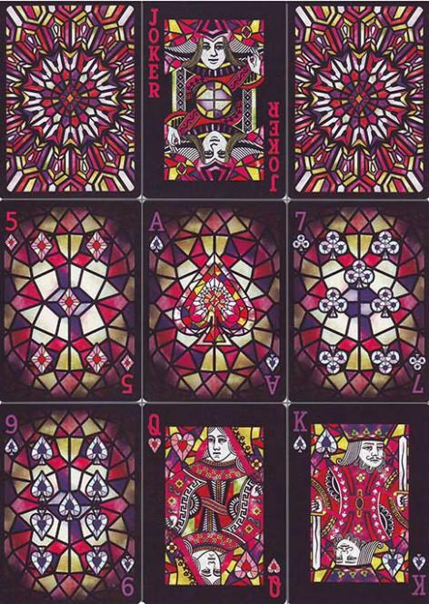 Bicycle Stained Glass Spielkarten