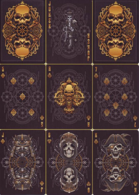 Bicycle Steampunk Bandits Deck - Black