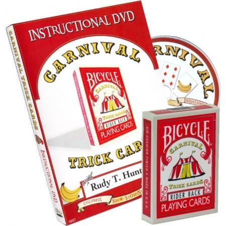 Carnival Card Trick DVD inkl. Deck