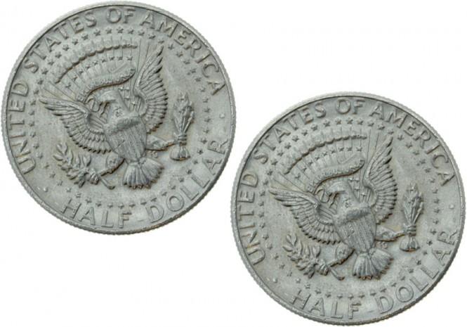 US-Halfdollar Doppelmünze Doppel-Rückseite (Eagle)