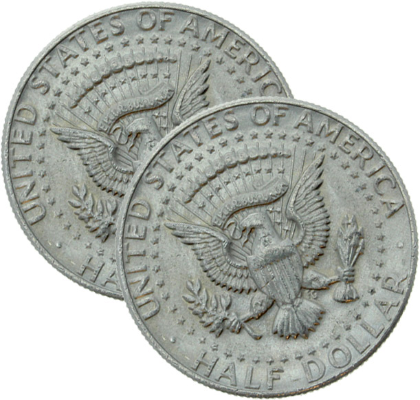 US-Halfdollar Shell (erweitert) American-Eagle-Prägung