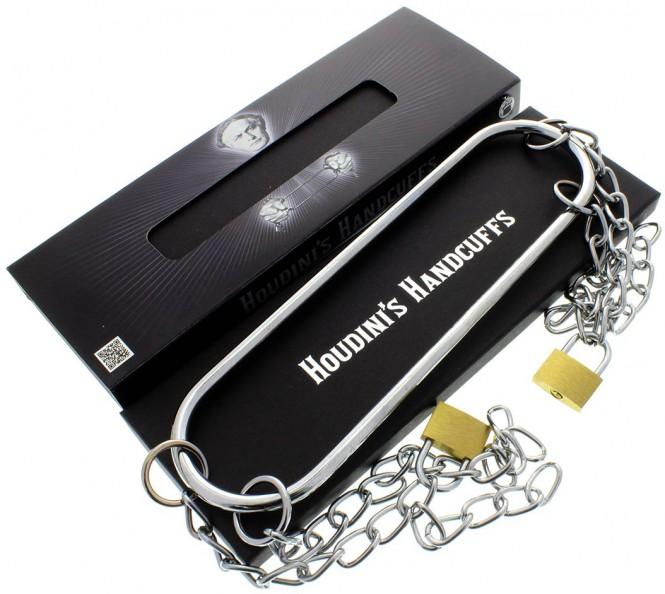 Houdini-Handschellen inkl. Vorhängeschloss-Set