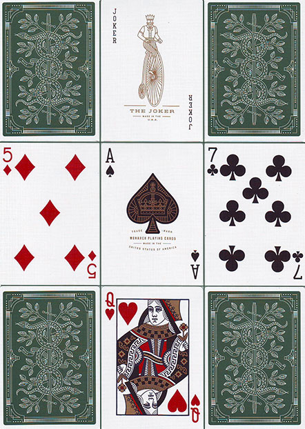 Monarchs Spielkarten von Theory11 - Grün