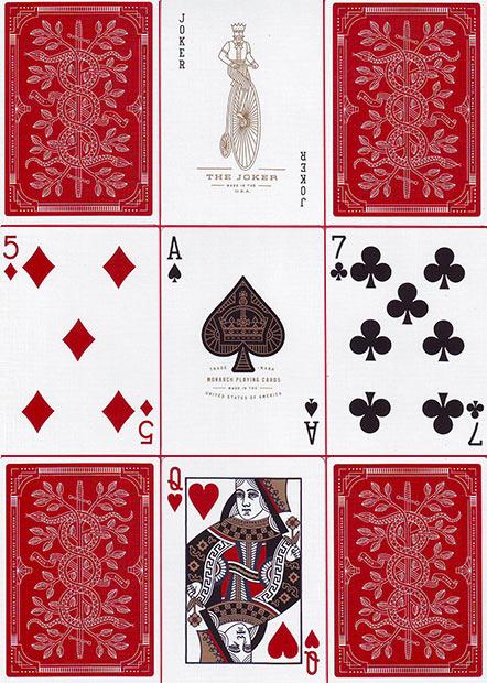 Monarchs Spielkarten von Theory11 - Rot