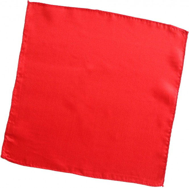 Seidentuch Rot / 9 Inch / 23 cm