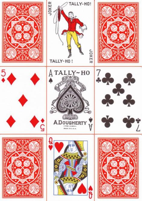Tally-Ho Poker Fan Back Orange