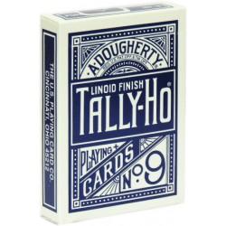 Tally-Ho Poker Fan Back Blau