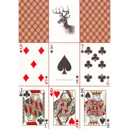 Vintage Plaid No.2 Spielkarten (Arizona Rot)
