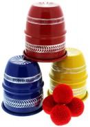 Becherspiel-Set (Aluminium, 3-farbig, graviert)