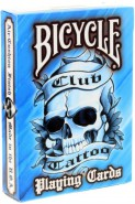 Bicycle Club Tattoo Deck - Blau