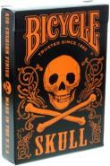 Bicycle Dark Skull Deck (Orange-Edition)