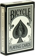 Bicycle Poker Metallic Black and White