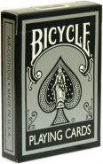 Bicycle Poker Metallic Black and Silver