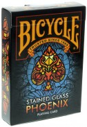 Bicycle Stained Glass Phoenix Spielkarten