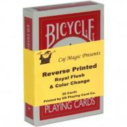 Reverse Printed Royal Flush Karten