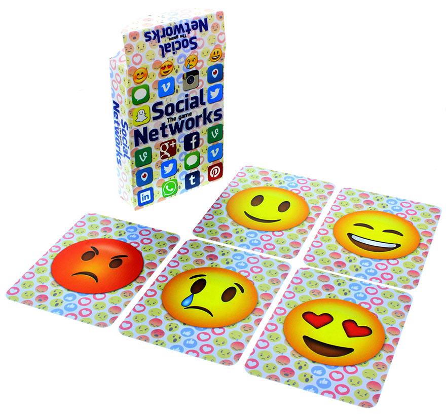 Social Networks Emoji Kartentrick